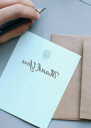 handgeschreven kaart sturen